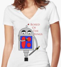 Bored of the Rings Women's Fitted V-Neck T-Shirt