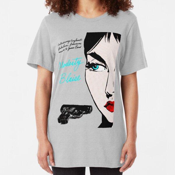 Pulp Fiction ( Modesty Blaise Cover ) Slim Fit T-Shirt