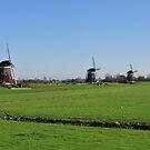 Three Mills by Hans Kool
