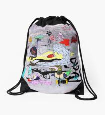 HEADS WILL ROLL Drawstring Bag