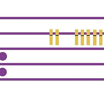 PENTAGRAMA MUSICAL CON PINZAS de malangacamisetas