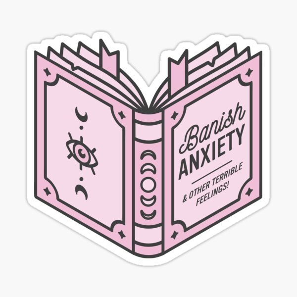 Banish Anxiety Spell Book  Sticker