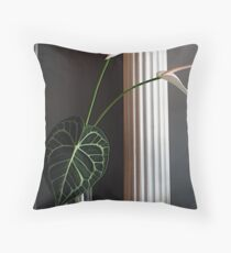 Lily Leaf Throw Pillow