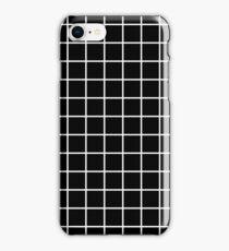 Grid Line Iphone 6 Case | White on Black iPhone Case/Skin
