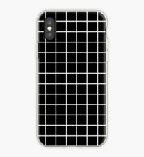 Grid Line Iphone 6 Case | White on Black iPhone Case