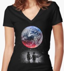 Until The End Of The World Women's Fitted V-Neck T-Shirt