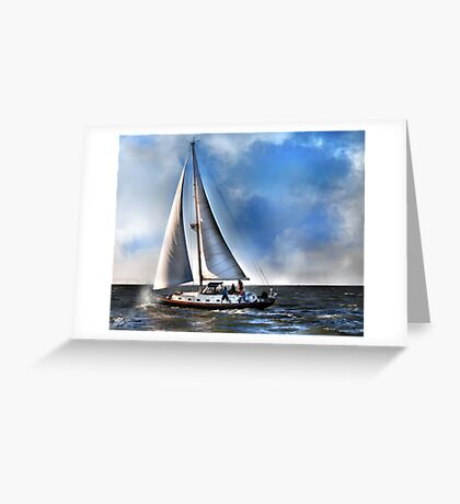 Ship Shape on The Sea Greeting Card