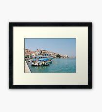 Skopelos harbour, Greece Framed Print