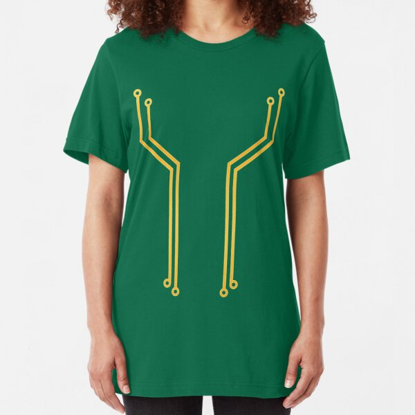 Gold Circuitry Slim Fit T-Shirt