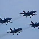 """Blue Angels """"dirty"""" Diamond formation by Henry Plumley"""