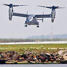 V-22 Osprey on approach by Henry Plumley