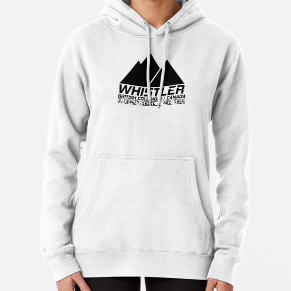 Ski Whistler British Columbia Canada Skiing and Snowboarding Pullover Hoodie