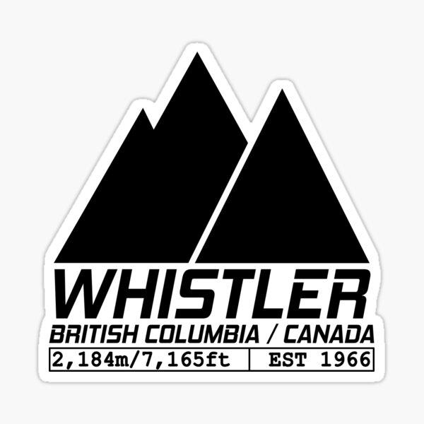 Ski Whistler British Columbia Canada Skiing and Snowboarding Sticker
