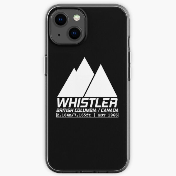 Ski Whistler British Columbia Canada Skiing and Snowboarding iPhone Soft Case