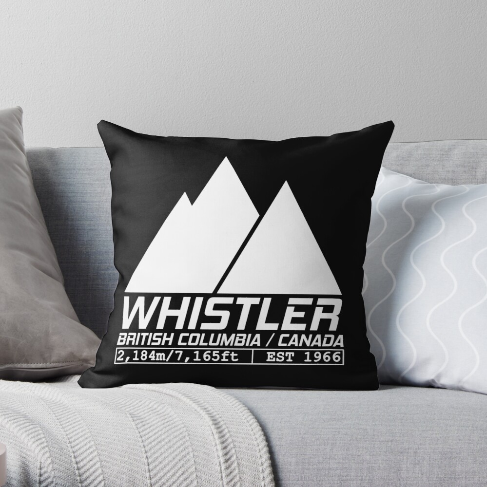 Ski Whistler British Columbia Canada Skiing And Snowboarding Throw Pillow By Chriswilson111 Redbubble