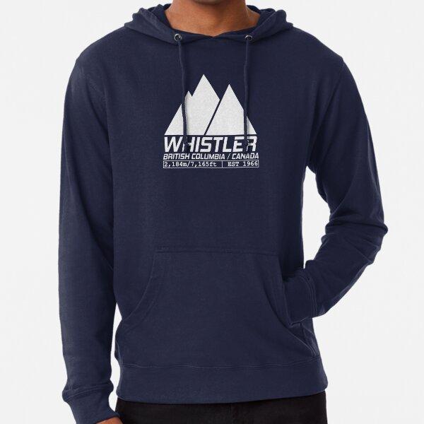 Ski Whistler British Columbia Canada Skiing and Snowboarding Lightweight Hoodie