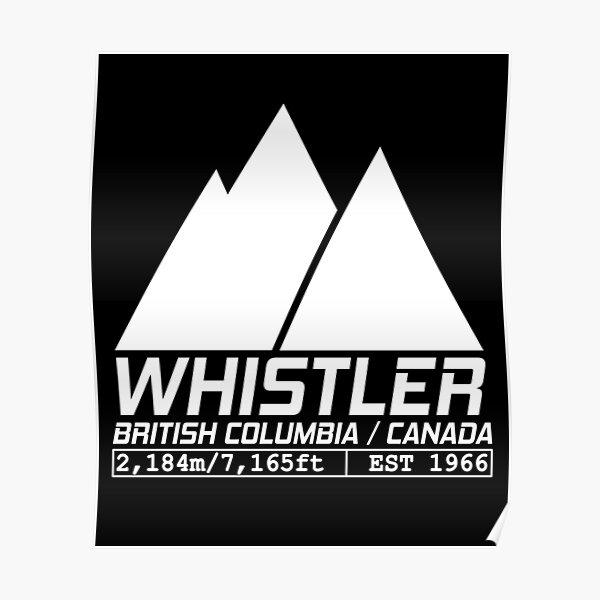 Ski Whistler British Columbia Canada Skiing and Snowboarding Poster