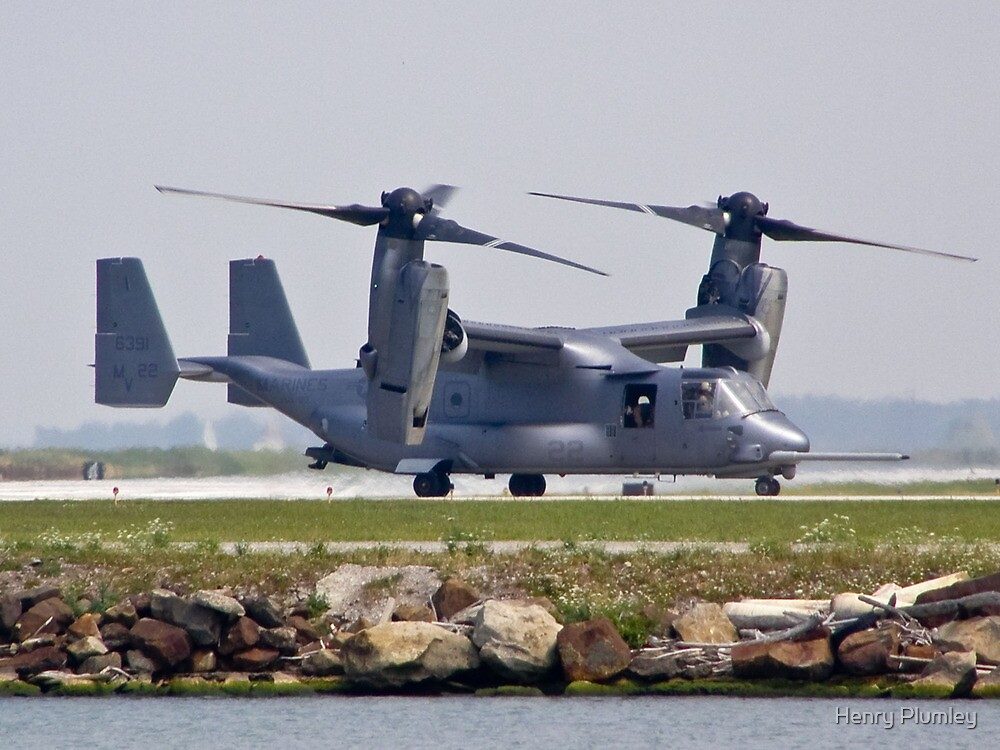Side view of the V-22 Osprey by Henry Plumley