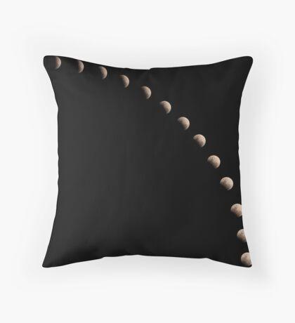 Partial Lunar Eclipse Throw Pillow