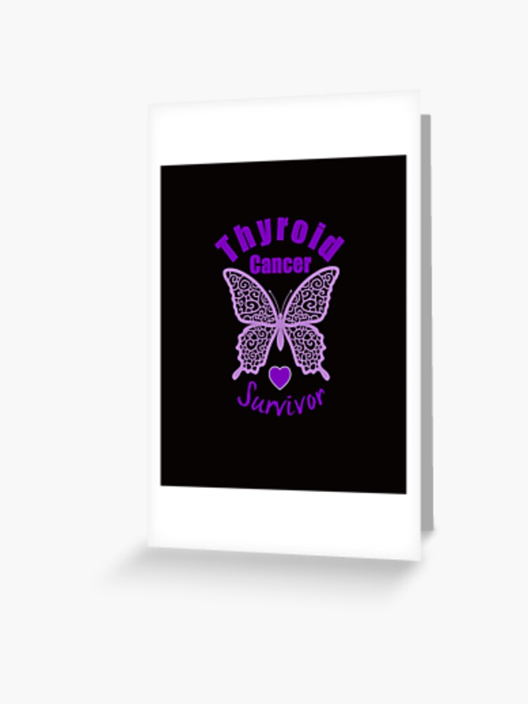 Thyroid Cancer Survivor Lace Butterfly Greeting Card By Wordsonly Redbubble