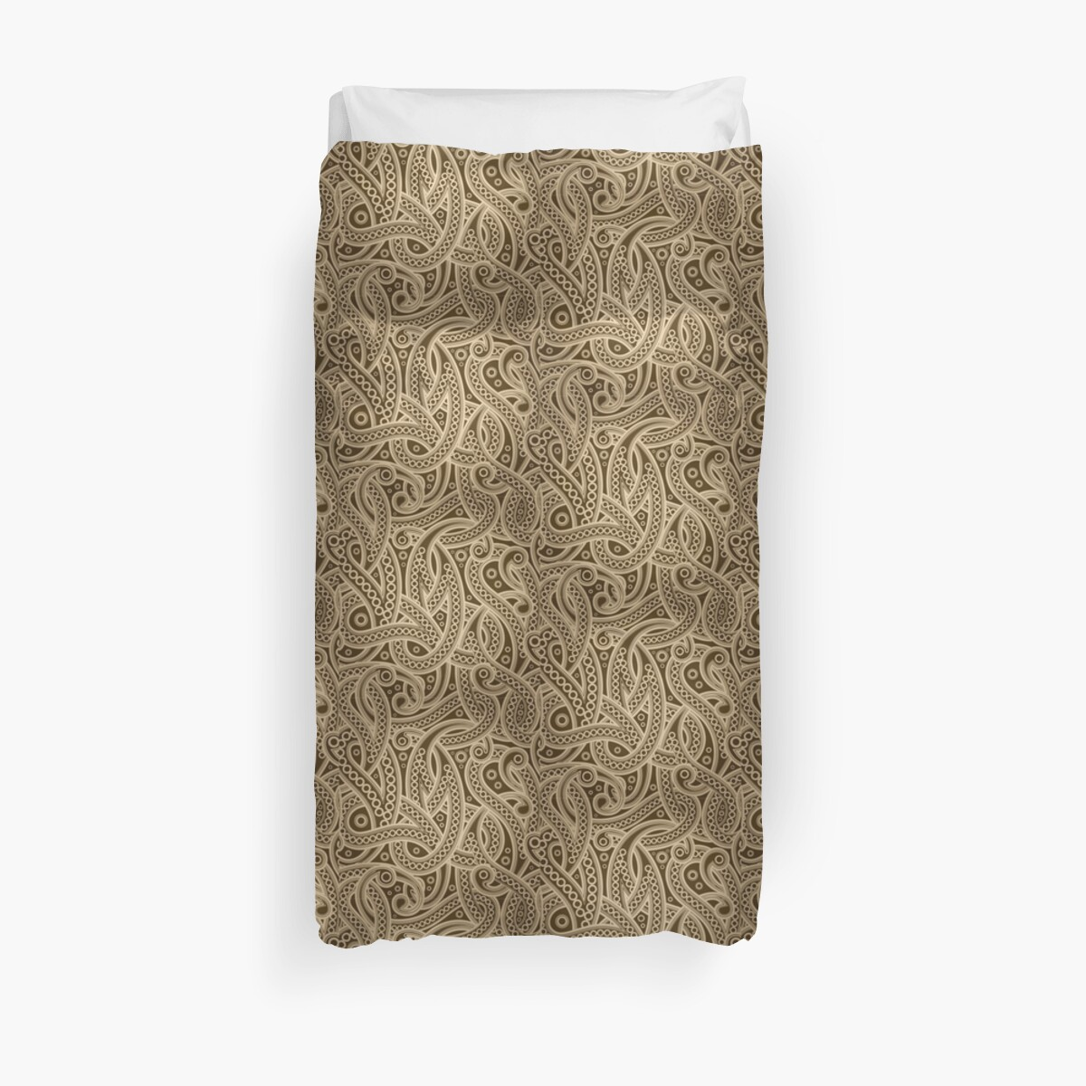 Quot Funky Gold Abstract Paisley Pattern Quot Duvet Covers By