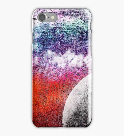 Lunatic Love - The moon and Heart - Grunge Textures iPhone Case/Skin