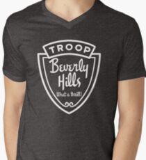 Truppe Beverly Hills T-Shirt mit V-Ausschnitt