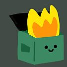 Kawaii Dumpster Fire by mikepop