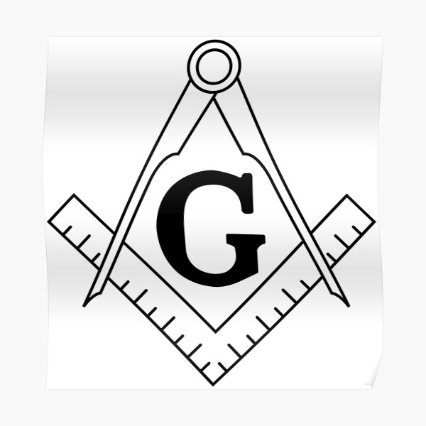 The Masonic Square and Compasses Poster