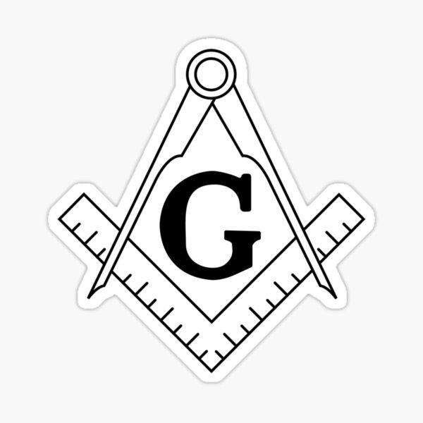 The Masonic Square and Compasses Sticker