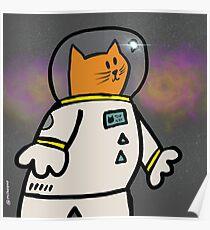 Cat Astronaut Poster