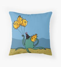 Party Octopus Throw Pillow