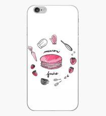 Fraise macaron print iPhone Case