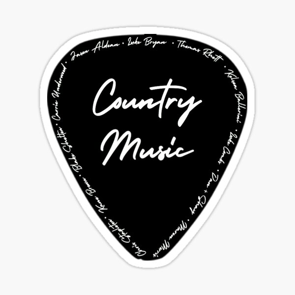 Country Music Glossy Sticker