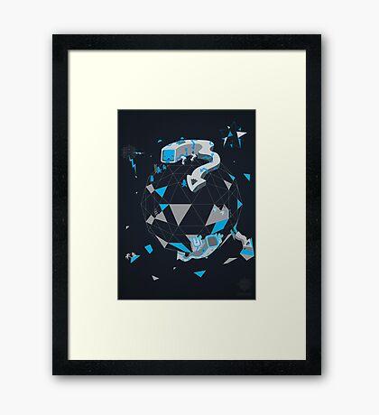 Oblique Technique Art V1.0 Framed Print