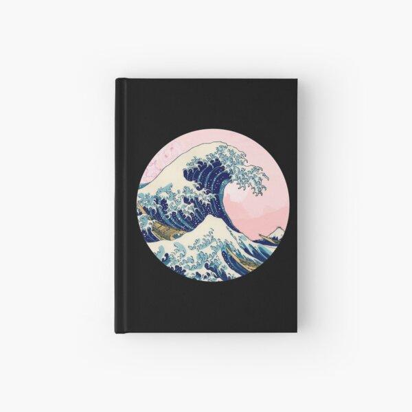 The Great Wave off Kanagawa pink sunset Hardcover Journal