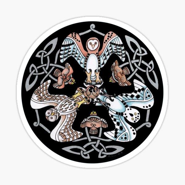 Night Hunters - Celtic Owls Sticker