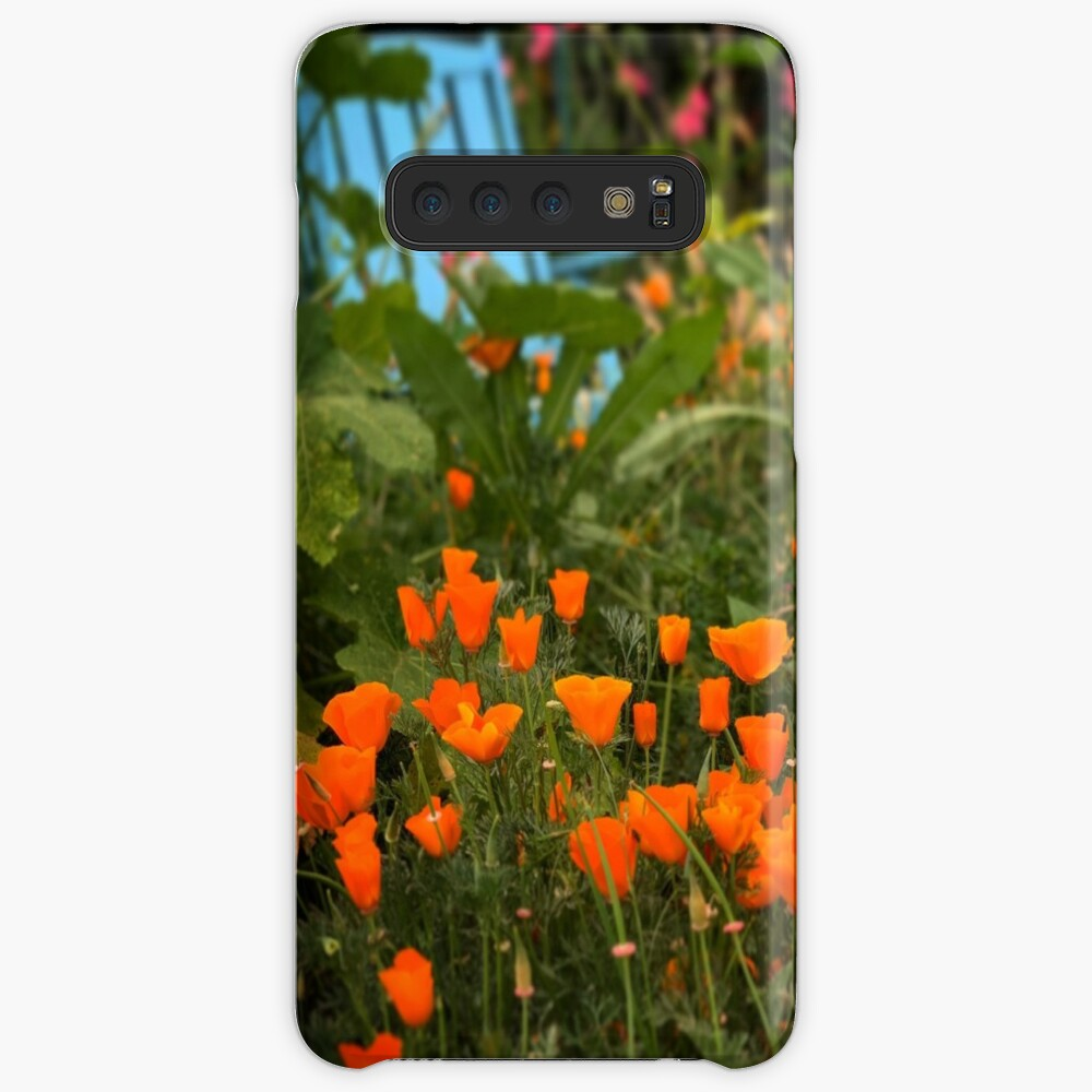 California Poppies In The Garden Case & Skin for Samsung Galaxy