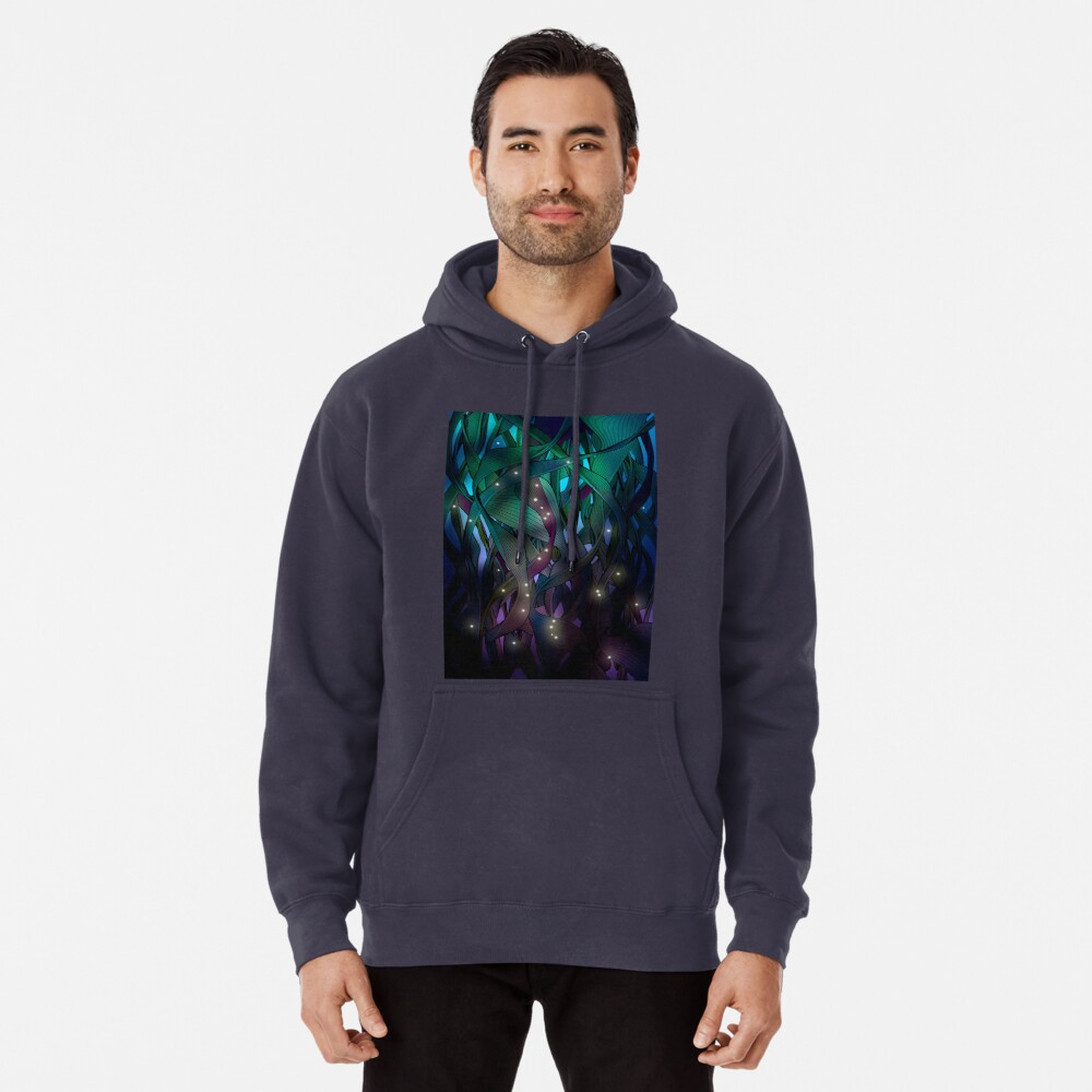 Nocturne (with Fireflies) Pullover Hoodie