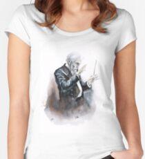 Leonard Bernstein Porträt Tailliertes Rundhals-Shirt