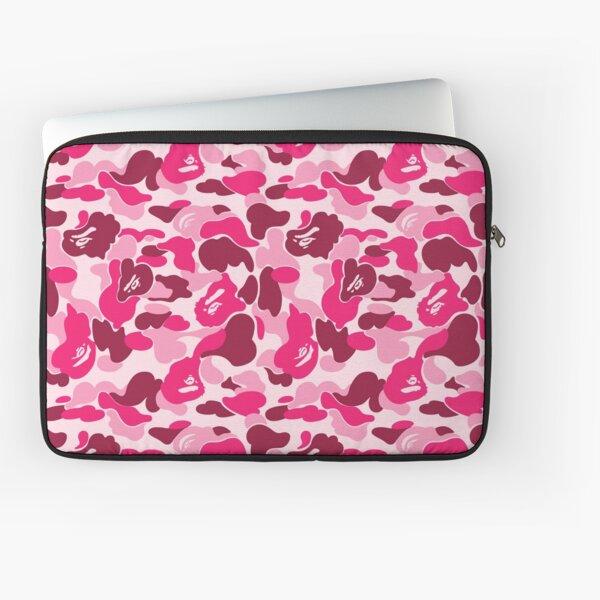 Pink Bape Camo Laptop Sleeve