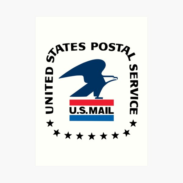 U S Mail Old Logo Art Print By Jmirvish Redbubble