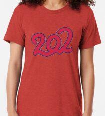 Baseball - Washington - 202 Area Code Tri-blend T-Shirt