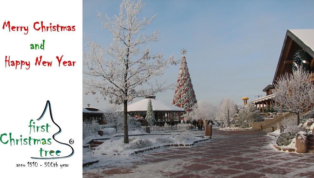 Christmas Hoilday Card 5546 - Santa's Garden LIDO Riga Latvia by FirstTree