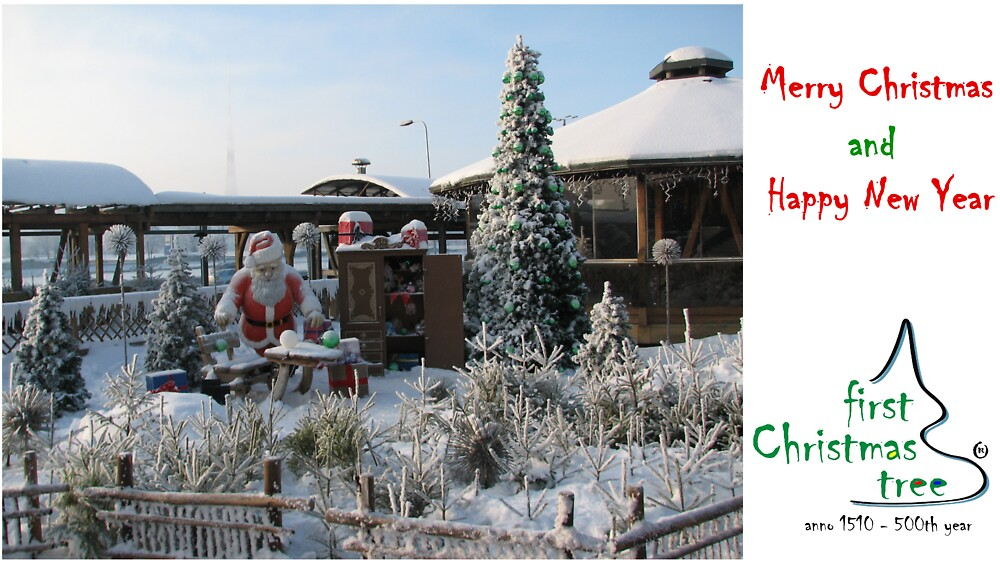 Christmas Holiday Card 5529 - Santa's Workshop LIDO Riga Latvia by FirstTree