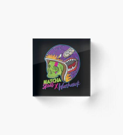 Matcha Skull Warhawk Acrylic Block