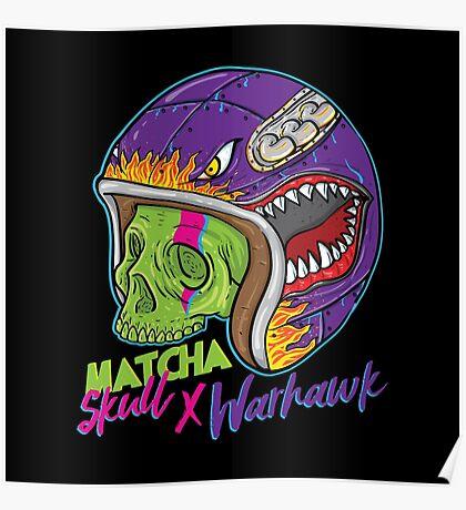 Matcha Skull Warhawk Poster