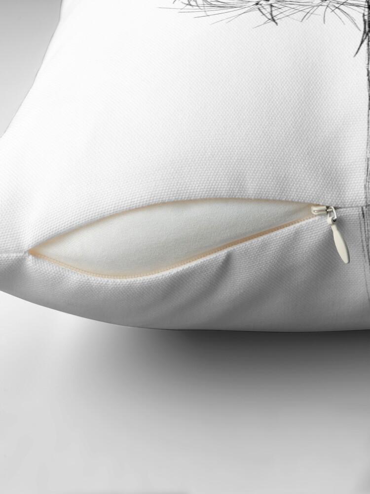 Alternate view of Dandelion Wish Flower Drawing Throw Pillow