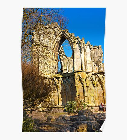 Ruins of St Mary's Abbey  -  York #2 Poster