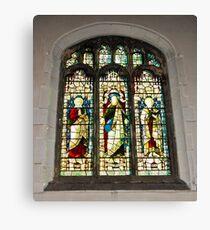 Window #1 - St Olave's Church - York. Canvas Print